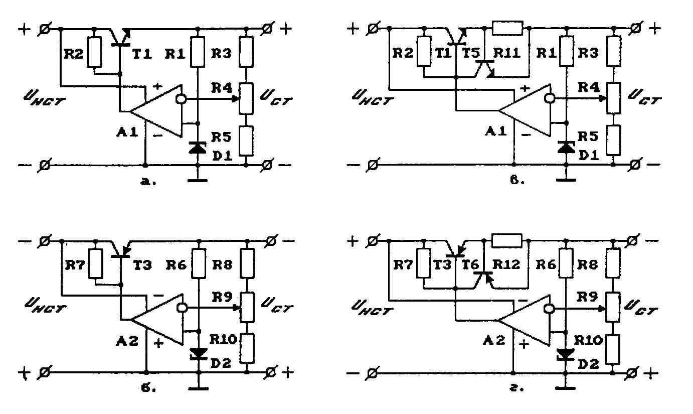 параллельный стабилизатор схема